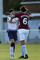 Ashleigh Neville of Tottenham Ladies and Jade Richards of Aston Villa Ladies after Tottenham Hotspur Ladies vs Aston Villa Ladies, FA Women's Championship Football at Theobalds Lane on 28th October 2018
