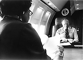 United States President Gerald R. Ford and first lady Betty Ford review paperwork as the return to Andrews Air Force Base, Maryland aboard Air Force One on August 19, 1974.<br /> Mandatory Credit: David Hume Kennerly / White House via CNP