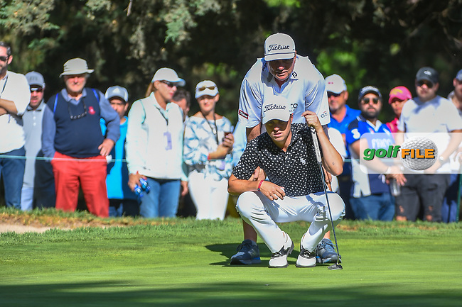 Justin Thomas (USA) lines up his putt on 7 during round 1 of the World Golf Championships, Mexico, Club De Golf Chapultepec, Mexico City, Mexico. 2/21/2019.<br /> Picture: Golffile | Ken Murray<br /> <br /> <br /> All photo usage must carry mandatory copyright credit (© Golffile | Ken Murray)