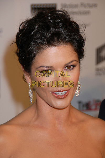 "CATHERINE ZETA JONES.""A Fine Romance"" Benefit 2007 for the Motion Picture and Television Fund at Sony Pictures Studios, Culver City, California, USA, 20 October 2007..portrait headshot earrings.CAP/ADM/BP.©Byron Purvis/AdMedia/Capital Pictures."