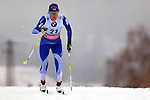 Aino Kaisa Saarinen in action during the Women 5 km Classic Individual in Val Di Fiemme<br /> <br /> &copy; Pierre Teyssot
