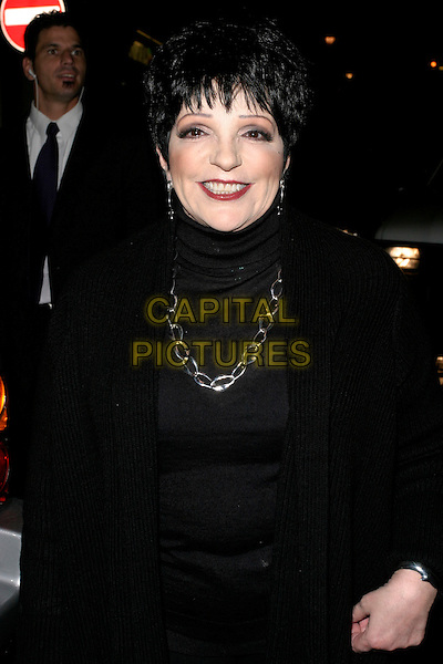 LIZA MINNELLI .An Evening With Liza Minnelli, Vue West End, London, UK..Ref: AH.September 28th, 2006.half length black top silver chain necklace.www.capitalpictures.com.sales@capitalpictures.com.©Adam Houghton/Capital Pictures.