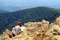 family couple love view mountains shenandoah