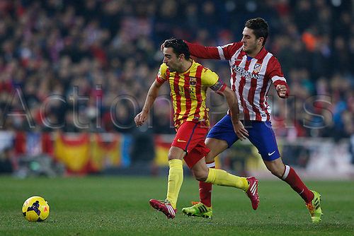 11.01.2014 Madrid, Spain. Atletico de Madrid versus F.C. Barcelona at Vicente Calderon stadium.  Xavier Hernandez Creus (Spanish midfielder of Barcelona)