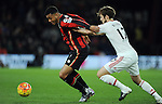 Joshua King of Bournemouth is challenged by Daley Blind of Manchester United<br /> - Barclays Premier League - Bournemouth vs Manchester United - Vitality Stadium - Bournemouth - England - 12th December 2015 - Pic Robin Parker/Sportimage