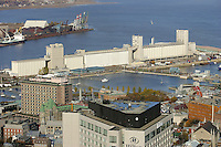 The Bunge grain Silo and the Bassin Louise in Quebec City, Canada