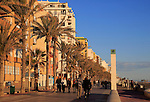 Sandy beach and seafront apartments city of Almeria, Spain