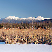This is the image for the month of February in the 2015 White Mountains New Hampshire calendar.  Scenic view of Presidential Range from the Presidential Range Rail Trail / Cohos Trail near Cherry Pond at Pondicherry Wildlife Refuge in Jefferson, New Hampshire USA. It can be purchased here: http://bit.ly/1audUBp