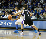 Senior guard A'dia Mathies dribbles the ball at the Women's Basketball game at Memorial Coliseum in Lexington, Ky., on Saturday, November. 17, 2012..