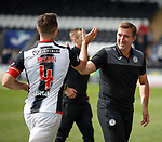 04.08.18 St Mirren v Dundee: Happy Alan Stubbs with captain John McGinn after a home victory to kick off the season