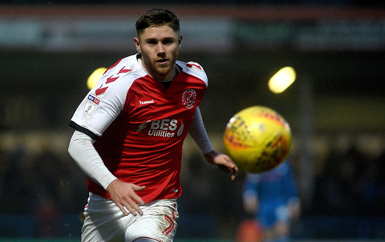Fleetwood Town's Wes Burns<br /> <br /> Photographer Hannah Fountain/CameraSport<br /> <br /> The EFL Sky Bet League One - Rochdale v Fleetwood Town - Saturday 19 January 2019 - Spotland Stadium - Rochdale<br /> <br /> World Copyright © 2019 CameraSport. All rights reserved. 43 Linden Ave. Countesthorpe. Leicester. England. LE8 5PG - Tel: +44 (0) 116 277 4147 - admin@camerasport.com - www.camerasport.com