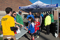 Allston, MA - Sunday, April 24, 2016: Fans enter prior to the start of the match. The Boston Breakers play Seattle Reign during a regular season NSWL match at Harvard University.