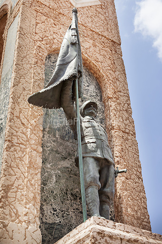 Republic Monument, detail of soldier holding flag, Taksim Square, Istanbul, Turkey  May 2015.<br /> CAP/MEL<br /> &copy;MEL/Capital Pictures /MediaPunch ***NORTH AND SOUTH AMERICA ONLY***