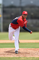 GCL Nationals pitcher Anderson Martinez (62) delivers a pitch during a game against the GCL Marlins on June 28, 2014 at the Carl Barger Training Complex in Viera, Florida.  GCL Nationals defeated the GCL Marlins 5-0.  (Mike Janes/Four Seam Images)