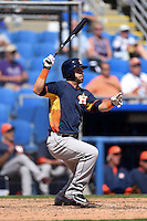 Houston Astros outfielder Andrew Aplin (79) during a Spring Training game against the Toronto Blue Jays on March 9, 2015 at Florida Auto Exchange Stadium in Dunedin, Florida.  Houston defeated Toronto 1-0.  (Mike Janes/Four Seam Images)
