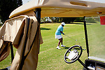"Deborrah Wilcox, of Augusta, hits the ball at the Augusta Municipal Golf Course, ""The Patch,"" during the African American Golfers Tournament in Augusta, Georgia April 7, 2010."