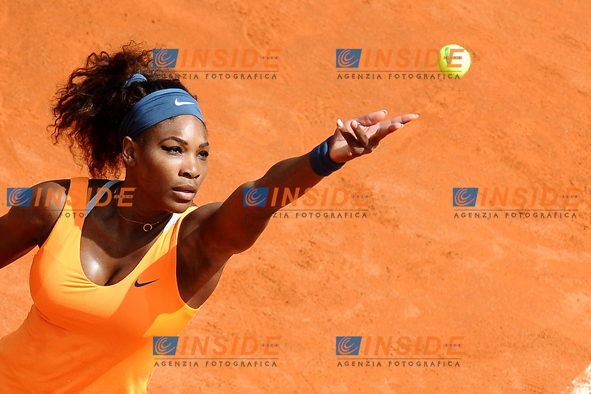 Serena Williams.Roma 17/05/2013 Foro Italico .Tennis Internazionali d'Italia 2013 .Foto Antonietta Baldassarre Insidefoto