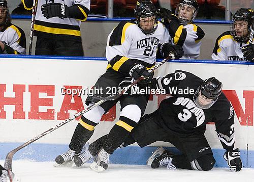 2058157a77a Ben Iwanowski (WIT - 20), Jordan Lalor (Bowdoin - 3) | HockeyPhotography.com