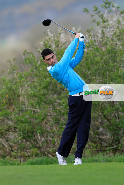 Jack Blake (Forest Little) on the 15th tee during Day 1 of The Munster Youths' Amateur Open Championship in Dungarvan Golf Club on Wednesday 23nd April 2014.<br /> Picture:  Thos Caffrey / www.golffile.ie