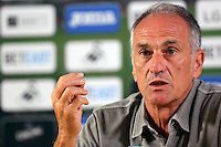 Pictured: Swansea manager Francesco Guidolin Thursday 18 August 2016<br />