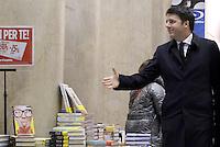 Roma, 2 Febbraio 2015<br /> Il Presidente del Consiglio Matteo Renzi nella libreria Feltrinelli della galleria Sordi.