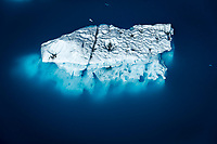 Summer aerial of iceberg above and below water at Bear Glacier Lagoon in Kenai Fjords National Park.  Kenai Penninsula, Summer, Alaska   <br /> <br /> Photo by Jeff Schultz/  (C) 2019  ALL RIGHTS RESERVED