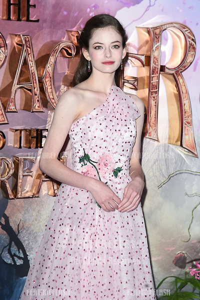 """LONDON, UK. November 01, 2018: MacKenzie Foy at the European premiere of """"The Nutcracker and the Four Realms"""" at the Vue Westfield, White City, London.<br /> Picture: Steve Vas/Featureflash"""