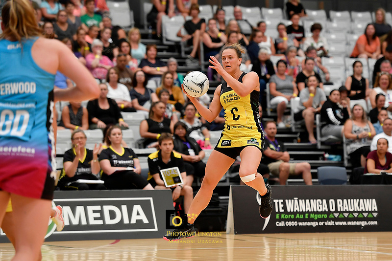 Pulse' Claire Kersten in action during the  Preseason Tournament - Pulse v Steel at Ngā Purapura, Otaki, New Zealand on Sunday 10 February  2019. <br /> Photo by Masanori Udagawa. <br /> www.photowellington.photoshelter.com