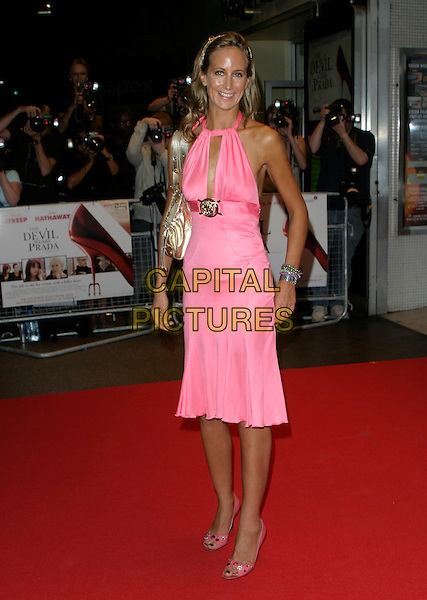 "Lady VICTORIA HERVEY.""The Devil Wears Prada"" screening arrivals.Odeon West End cinema, Leicester Square.London England 21st October 2006.Ref: AH.full length portrait pink dress.www.capitalpictures.com.sales@capitalpictures.com.©Adam Houghton/Capital Pictures."