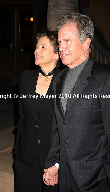 "HOLLYWOOD, CA. - April 19: Annette Bening and Warren Beatty arrive at the Los Angeles Premiere of ""Mother And Child"" at the Egyptian Theatre on April 19, 2010 in Hollywood, California."