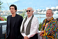 Adam Driver, Jonathan Pryce &amp; Terry Gilliam at the photocall for &quot;The Man Who Killed Don Quixote&quot; at the 71st Festival de Cannes, Cannes, France 19 May 2018<br /> Picture: Paul Smith/Featureflash/SilverHub 0208 004 5359 sales@silverhubmedia.com