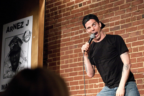 April 30, 2011. Raleigh, NC.. Steve O, of Jackass fame, performed a stand up comedy routine at Goodnights in Raleigh. His new career path includes jokes about his carer on Jackass, as well as a few of the stunts that he is famous for,