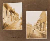 BNPS.co.uk (01202 558833)<br /> Pic: ForumAuctions/BNPS<br /> <br /> Mixen Lane area of Dorchester, one of the poorest parts of Victorian Dorchester.<br /> <br /> Extraordinary photo album reveals Thomas Hardy as personal tour guide around his most famous novel.<br /> <br /> A personalised photograph album documenting a guided tour of 'Casterbridge' that novelist Thomas Hardy gave a literary friend has emerged almost 100 years later.<br /> <br /> The famous author showed playwright John Drinkwater the real-life locations that inspired him to write the classic 1886 novel The Mayor of Casterbridge.<br /> <br /> Mr Drinkwater took photographs of various venues that feature prominently in the novel.<br /> <br /> He also captured some of the last images of Hardy who died two years later.
