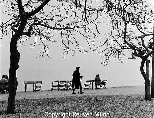 A gentle walk along the sea of Galilee, Tiberias, 1954
