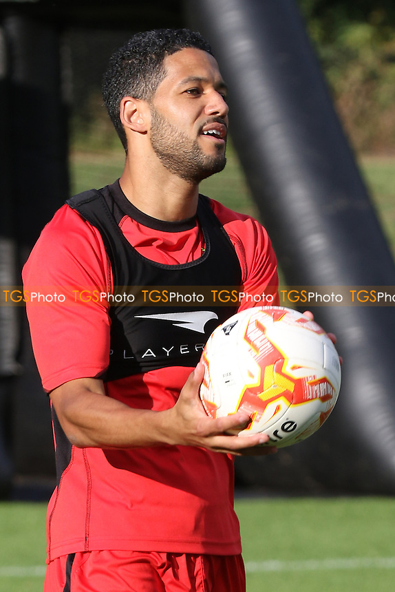 Jobi McAnuff of Stevenage during the Stevenage FC Press Day at Bragbury End Training Ground on 28th July 2016