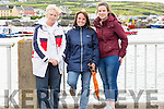 Valentia supporters at the Portmagee Regatta on Saturday pictured l-r; Breda Lyne, Eílish Trew & Ciara Lyne.