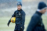 St Johnstone Training&hellip;22.01.19   McDiarmid Park<br />Matty Kennedy pictured during a snowy training session this morning ahead of tomorrw night&rsquo;s game against Livingston.<br />Picture by Graeme Hart.<br />Copyright Perthshire Picture Agency<br />Tel: 01738 623350  Mobile: 07990 594431