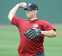 July 5, 2009: 2009 draft pick John Church (19) of the Savannah Sand Gnats prior to a game against the Greenville Drive at Fluor Field at the West End in Greenville, S.C. Church, who played with the University of Western Florida, was a 23rd round draft pick of the New York Mets. Photo by: Tom Priddy/Four Seam Images