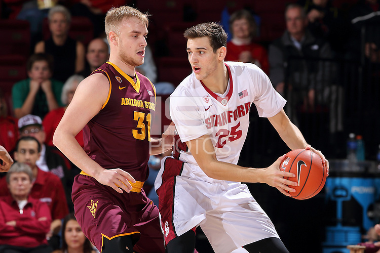 STANFORD, CA - January 24, 2015: Stanford Cardinal vs. Arizona State Sun Devils at Maples Pavilion.  The Cardinal defeated the Sun Devils 89-70.