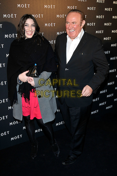 GUEST & ANDREW NEIL .Moet & Chandon hosts a Tribute to Cinema at Big Sky Studios, Brewerey Road, London, England, UK, .25th March 2009..full length and et black suit white shirt .CAP/PL.©Phil Loftus/Capital Pictures