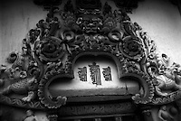 Kalachakra symbol over door way to interior of Gayntse Kumbum, architectural details,Tibet
