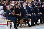 "Spanish King Felipe and  Manuela Carmena during the launching of the ""International Year of Sustainable Tourism for Development 2017"", at Royal Pardo Palace in Madrid, on January 17, 2016.  (ALTERPHOTOS/Rodrigo Jimenez)"