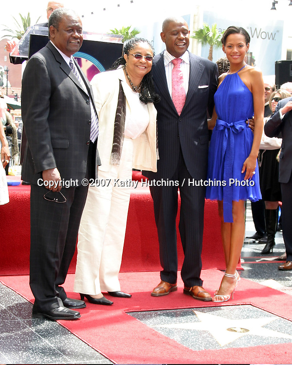 Forest Whitaker, Parents, and wife Keisha.Forest Whitaker receives Star on the Walk of Fame.Hollywood & Highland.Los Angeles, CA.April 16, 2007.©2007 Kathy Hutchins / Hutchins Photo....