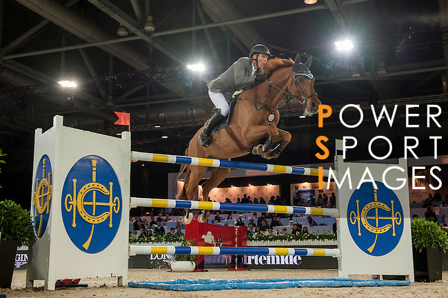 Ludger Beerbaum of Germany riding Casello during the Hong Kong Jockey Club Trophy competition, part of the Longines Masters of Hong Kong on 10 February 2017 at the Asia World Expo in Hong Kong, China. Photo by Marcio Rodrigo Machado / Power Sport Images