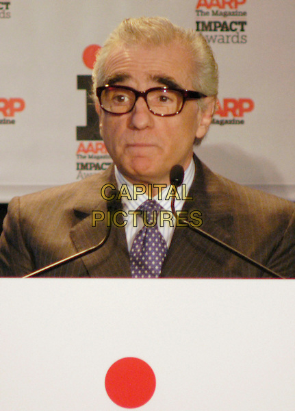 MARTIN SCORSESE.AARP Imapact Awards at the New York Public Library, .New York, NY, USA, 18 December 2006..portrait headshot microphone speaking glasses.CAP/ADM/BL.©Bill Lyons/Admedia/Capital Pictures *** Local Caption ***