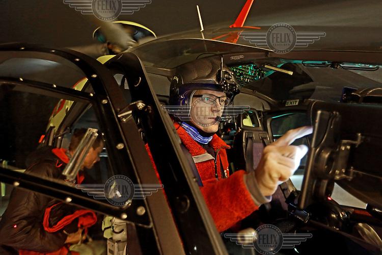 Pilot Lars Amdal, Norwegian Air Ambulance base Lørenskog (Photo:Fredrik Naumann/Felix Fetures.)