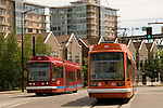 Streetcar in the South Waterfront area, Portland, Oregon