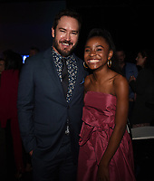 "SANTA MONICA - JANUARY 10: Mark-Paul Gosselaar and Saniyya Sidney attend the red carpet premiere party for FOX's ""The Passage"" at The Broad Stage on January 10, 2019, in Santa Monica, California. (Photo by Frank Micelotta/Fox/PictureGroup)"