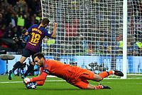 Hugo Lloris of Tottenham Hotspur saves from Jordi Alba of FC Barcelona during Tottenham Hotspur vs FC Barcelona, UEFA Champions League Football at Wembley Stadium on 3rd October 2018
