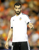 Valencia's Alvaro Negredo during Champions League 2015/2016 Play-Offs 1st leg match. August  19,2015. (ALTERPHOTOS/Acero)